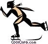 Skater symbol Vector Clip Art image