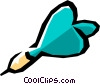 Vector Clip Art graphic  of a Darts