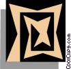 Vector Clip Art image  of a Woodcut symbol
