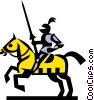 Vector Clipart picture  of a Knights