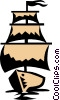 Vector Clipart picture  of a Sail boat