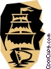 Vector Clip Art graphic  of a Sailing ship