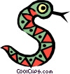 Worm or snake Vector Clipart graphic