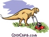 Vector Clip Art image  of a Dinosaurs