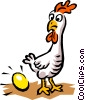 Chicken & egg Vector Clipart picture