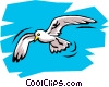 Vector Clipart picture  of a Seagull