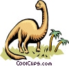 Vector Clipart illustration  of a Dinosaur