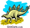 Vector Clipart picture  of a Stegosaurs