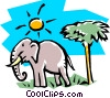 Vector Clipart image  of a Elephant