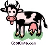 Vector Clip Art picture  of a Dairy cow