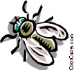 Vector Clipart graphic  of a House fly