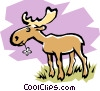Vector Clip Art image  of a Moose