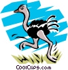 Vector Clipart illustration  of a Ostrich