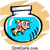 Fishbowl Vector Clipart picture