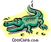 Vector Clipart graphic  of an Alligator