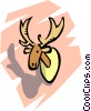 Vector Clip Art graphic  of a Moose head