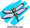 Vector Clip Art image  of a Dragonflies