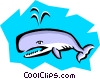 Vector Clip Art picture  of a Whale