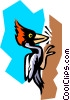 bird, Woodpecker Vector Clipart illustration