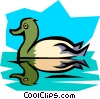 Vector Clip Art image  of a Duck