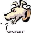 Dog barking Vector Clip Art picture