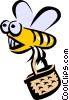 Vector Clip Art graphic  of a Bumblebee