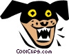 Vector Clipart image  of a Mean old dog