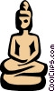 Vector Clipart illustration  of a Statue symbol