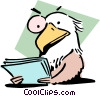 Eagle-eyed Vector Clip Art picture