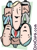Vector Clip Art image  of a Packed in like sardines
