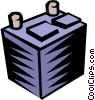 Vector Clip Art image  of a Car battery
