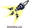 Vector Clipart illustration  of a Spark plug