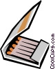 Matches Vector Clipart illustration