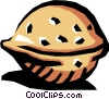 Vector Clip Art image  of a Walnut