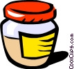 Mustard jar Vector Clipart picture