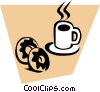 Coffee & doughnuts Vector Clipart illustration
