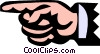 Pointing finger Vector Clipart picture