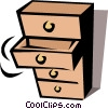 Vector Clipart image  of a Chest of drawers