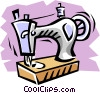 Vector Clip Art picture  of a Sewing machine