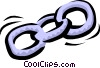 Vector Clipart graphic  of a Chain links