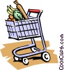 Vector Clipart graphic  of a Grocery cart