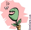 Vector Clip Art graphic  of a Venus fly trap