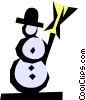 Vector Clipart graphic  of a Snowman