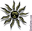Vector Clipart picture  of a Sun