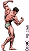 Vector Clip Art picture  of a Muscle man