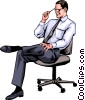 Man in chair Vector Clipart illustration