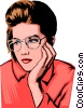 Woman's face Vector Clipart illustration