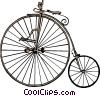 Vector Clip Art image  of a Old fashioned bicycle