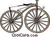 Old fashioned bicycle Vector Clip Art picture