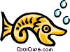 Fish symbol Vector Clip Art picture